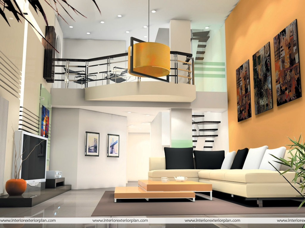 Interior Exterior Plan  Highceiling living room making a statement